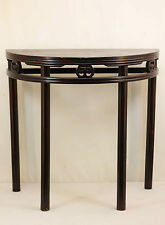 A Chinese Antique Dark Color Half ( Semi-circle ) Table