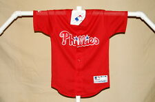 PHILADELPHIA PHILLIES   red mesh  JERSEY   by Majestic    Youth Medium    NWT