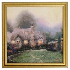 Thomas Kinkade Evening at Merritt's Cottage 13 x 13 Framed Textured Print