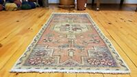 "Vintage Turkish Tribal Rug 1'7"" × 3'5"""