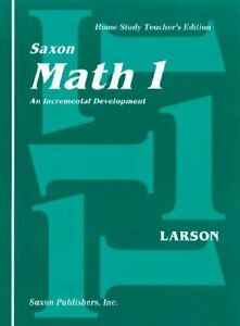 Saxon Math 1 An Incremental Development: Home Study Teachers Edition