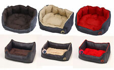 Petface Waterproof Oxford Pet Bed Puppy Dog Luxury Oval or Square Bedding Basket