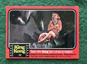 King Kong 1976 Topps Trading Card 26 Kong gets fresh Jessica Lange Naughty l#1
