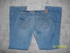 WOMEN SZ 4 SHORT AMERICAN EAGLE TRUE BOOT JEANS BUY EM! LOOK