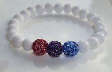 Crystal Silver Plated Friendship Costume Bracelets