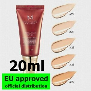 Missha M Perfect Cover BB Cream 20ml - # 13, 21, 23, 25, 27 - Official EU Distr.