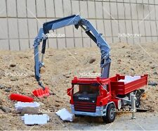 Red 1/50 Crane Truck Construction Vehicle Project Car Diecast Model By KDW 1:50