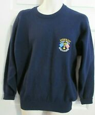 GLENMUIR RYDER CUP '93 Lambswool Crew Neck Sweater Navy Blue Mens SMALL Scotland