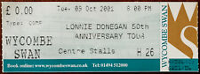 More details for lonnie donegan wycombe swan 9th october 2001 complementary ticket stub
