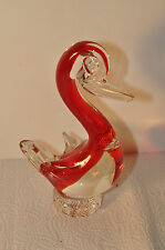 Glasfigur Ente vermutlich Murano