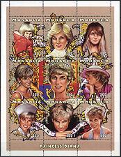 Mongolia 1997 Diana Princess Of Wales MNH Sheet #D2393