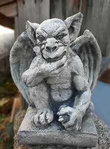 Massive Steinfigur Gargoyle - Der Wächter Torwächter aus Steinguss frostfest