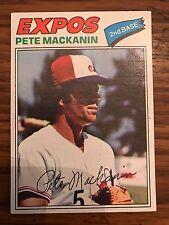 1977 Topps Pete Mackanin Montreal Expos 156