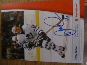Darcy Tucker nhl 5 x 7Toronto Maple Leafs Autographed