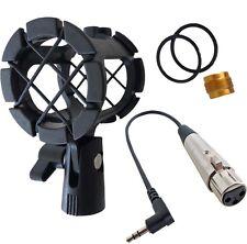 KEEPDRUM PCMH1 Spinne + MC-025XJ Mikrofonkabel 0,3m XLR3F - 3,5mm TRS