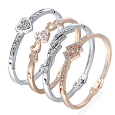 Trendy Fashionable Various Charm Gift Present Cuff Love Bangles Bracelets Women