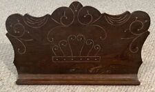 Antique Oak Carved Pump Organ Sheet Music Stand