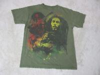 Bob Marley Concert Shirt Adult Medium Green Rasta Reggae Jamaica Music Mens
