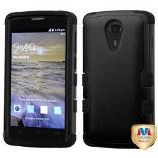 MYBAT Natural Black/Black TUFF Hybrid Phone case for ZTE N817 (Uhura)