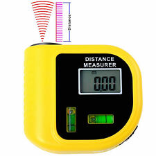 Digital LCD Laser Handheld Ultrasonic Distance Meter Measurer Tool New