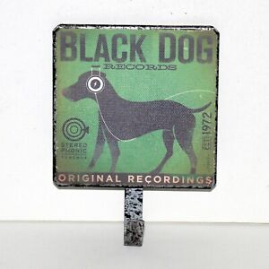 Black Dog Records Label metal hook hanger vintage style home decor music