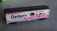 Vintage HO Scale Tyco Gerber's Strained Vegetables 1001 Box Car