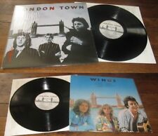 WINGS - London Town LP ORG French Press Paul McCartney Beatles 76' NM + Poster