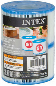 Intex Spa S1 Replacement Filter Cartridges (2 Pack) | 29001E  S1 Pure Spa