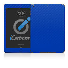 iPad Air Skin - Blue Carbon Fibre skin by iCarbons