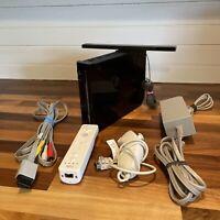 Nintendo Wii Black Console Bundle GameCube Compatible Complete RVL 001 USA
