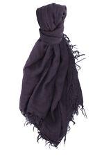 Chan Luu Soft Cashmere & Silk Scarf Wrap Solid Mysterioso DARK PURPLE BRH-SC-140