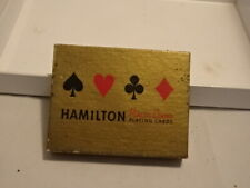 PLAYING CARDS HAMILTON VINTAGE HOLIDAY GIFT PRESENT 1970s USED