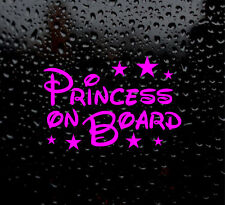 PRINCESS ON BOARD BABY GIRL DECAL LOGO FOR CAR/VAN/LAPTOP VINYL STICKER FUNNY
