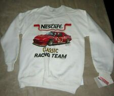 Vintage Nescafe Classic Racing Team White New Large Sweatshirt