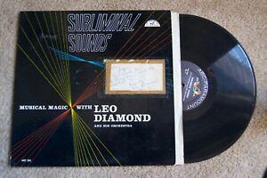 Subliminal Sounds Leo Diamond Signed Autograph Jazz  Record original vinyl album