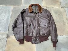 USN US Navy G-1 vintage leather flight jacket Irvin B Foster size 44 Military