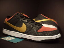 Nike Dunk Low Premium SB QS WALK OF FAME WOF BLACK GOLD REDWOOD 504750-076 9.5