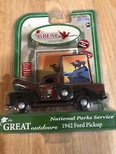 F1) GREAT OUTDOORS U.S. FOREST SERVICE 1942 FORD PICKUP Brown DIECAST TRUCK  New