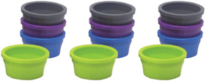 (12 Pack) Kaytee Cool Crock, Assorted Colors, Small - 4 Ounce Capacity Each