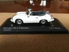 Minichamps Porsche 356 C Cabriolet, 1965. Rijkspolitie, In White & 1/43 Scale.