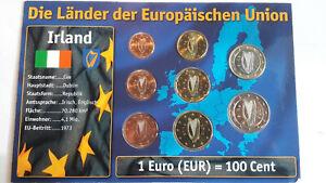 Kursmünzen-Set Irland Euro im Blister mit BTN-Zertifikat
