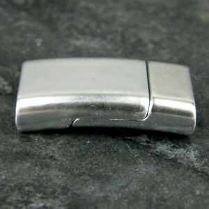 Magnetic Clasps, Kumihimo ,Thread End Caps Brushed Silver Plated K39-S