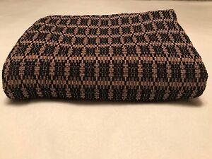 Primitive Throw Black and Taupe Not Family Heirloom Weavers but similar look