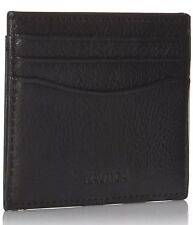 Nautica Mens Wallet Abaft, Black Leather New (for Business & Credit Cards)