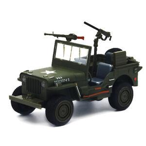 1:24 Willys WW II Jeep Military Vehicle Model Car Diecast Toy Kids Sound & Light