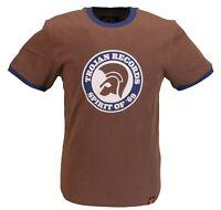 Trojan Records Mens Brown Spirit of 69 100% Cotton Peach T-Shirt