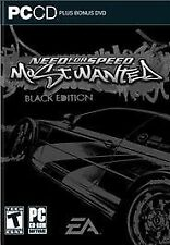 Need for Speed: Most Wanted - Black Edition (PC, 2005) + DVD  rare pc game