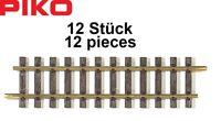 Piko G 35201-S Gerades Gleis G280, Länge 278,46 mm (12 Stück) - NEU + OVP