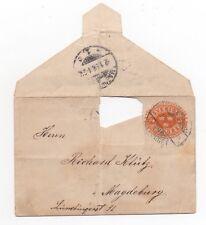 1897 SWEDEN Cover HÖTORGET to MAGDEBURG GERMANY Stationery