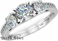 Engagement Eternity Sterling Silver Fine Rings